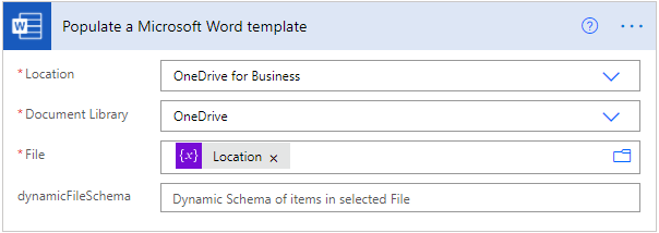 Dynamic Schema Word Template