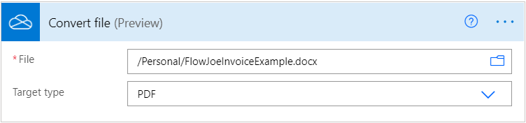 Convert File Example