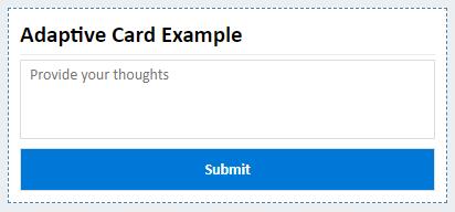 Finalized Adaptive Card